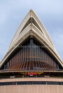 Sydney Opera House north end roof close-up
