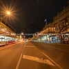 Main street at night in historic town of Ballarat.