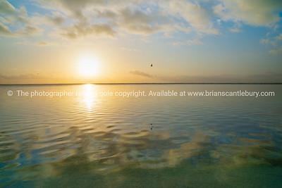 Sunrise over Lady Elliot Island reef.