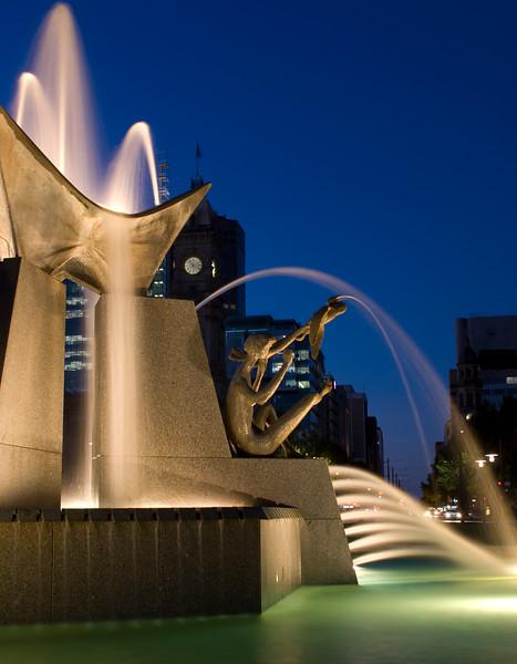Water Fountain in Victoria Square, Adelaide.