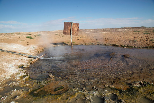 Artesian Bore with its naturally hot water. Birdsville Track, South Australia