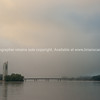 Lake Burley Griffin, Canberra, Australia, under mist.