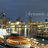 Sydney Darling Harbor bridge view panorama.