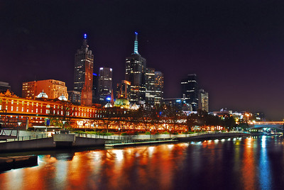 Along the Yarra river in Melbourne