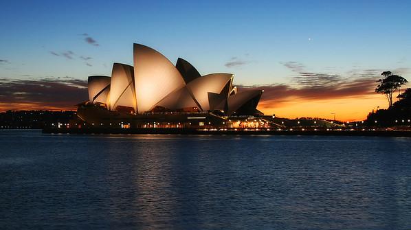 Sydney Opera House during Sunrise