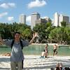 Yes...i made Gabe pose like this :) South Bank (Brisbane)