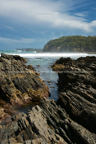 Batemans bay area, Australia, rocky coastline.