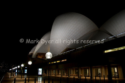 Sydney Opera House and terrace at night