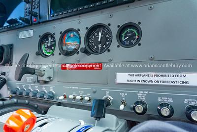 Control panle of small passenger plane.