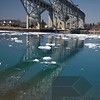 Ice Flow and ships on the St Clair River in Sarnia
