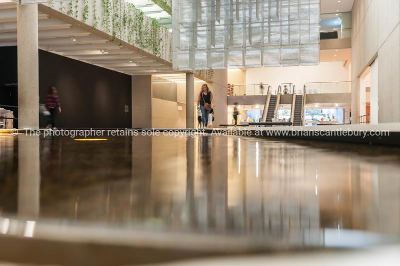 Inside Queensland Art Gallery, Brisbane.