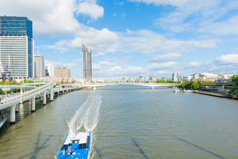 Brisbane River through city