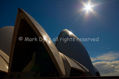 Sydney Opera House roof silhouette