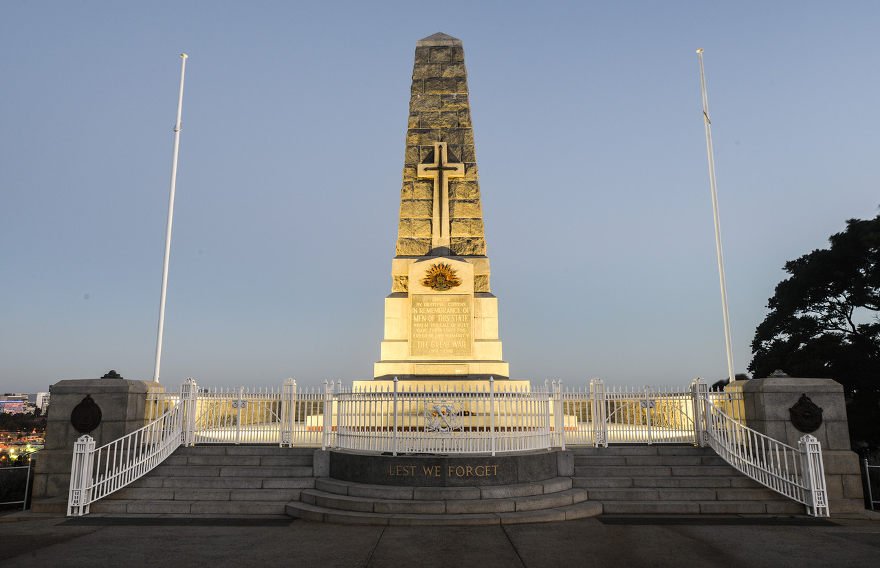 Cenotaph of the Kings Park War Memorial in Perth, Australia