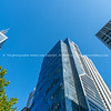 Towering and converging modern architecture