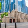 Melbourne Australia - March 9 2020; city buildings and skyline