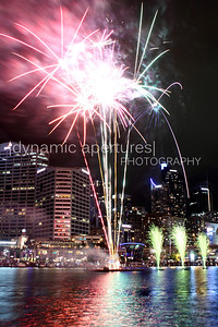 Fireworks over the Sydney Darling Harbor