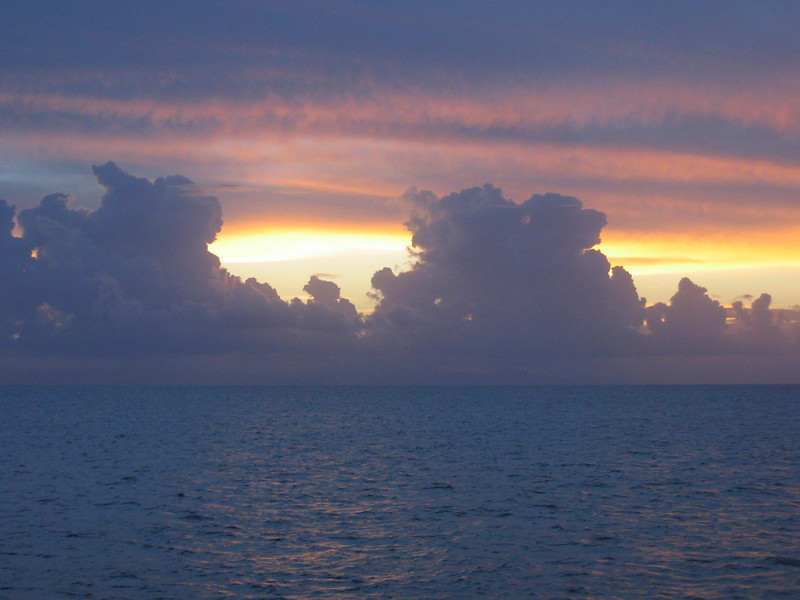 Sunset on the Great Barrier Reef - Australia