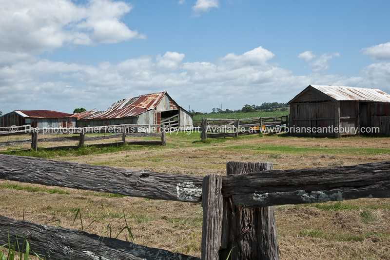 """Rustic rural Australia, old farm buildings, with weathered wooden fences,near Cowper.<br />  see also <a href=""""http://smu.gs/14LcY8Y"""">http://smu.gs/14LcY8Y</a> Fine Art Photograhpy for abstract landscapes."""