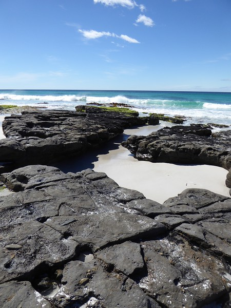 Rock formations at Friendly Beaches