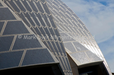 Sydney Opera House roof detail in sun