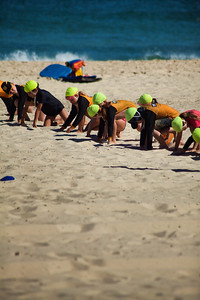 Nippers (surf club kids) on Cottesloe Beach, Western Australia