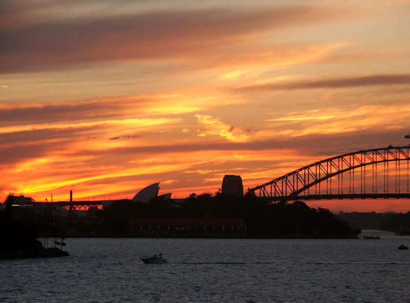 Syndey - Bridge and Opera House at Sunset