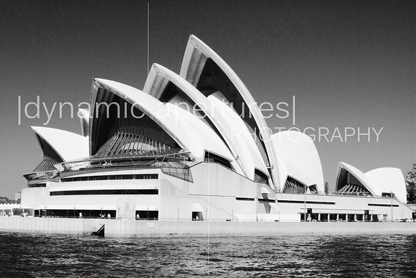 Sydney Opera House viewed from the Manly Ferry | B&W