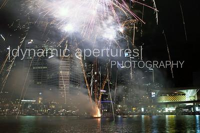 Fireworks over the Sydney Darling Harbor