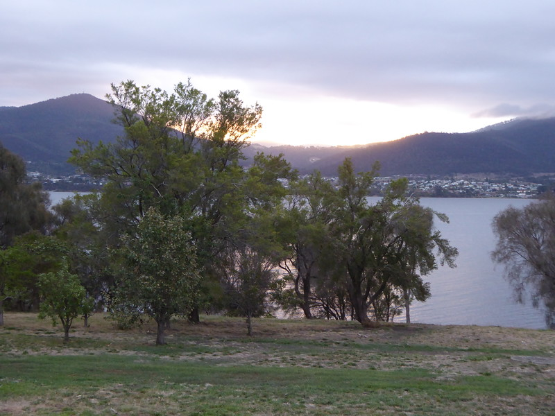 View across Derwent River from Otago Cottage, Hobart area.
