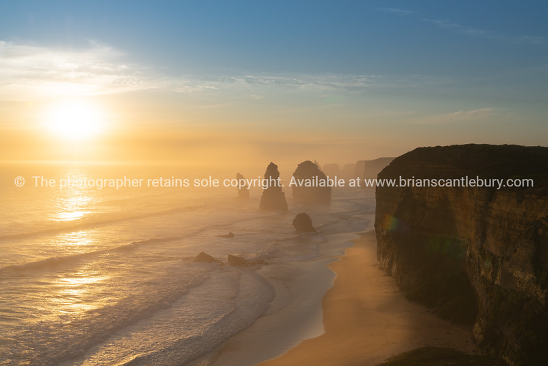 Twelve Apostles collection of limestone stacks  along Great Ocean Road.