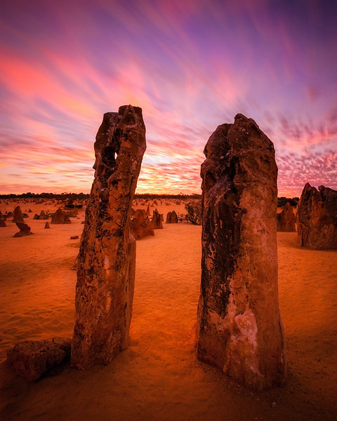 Sunset in the Pinnacles