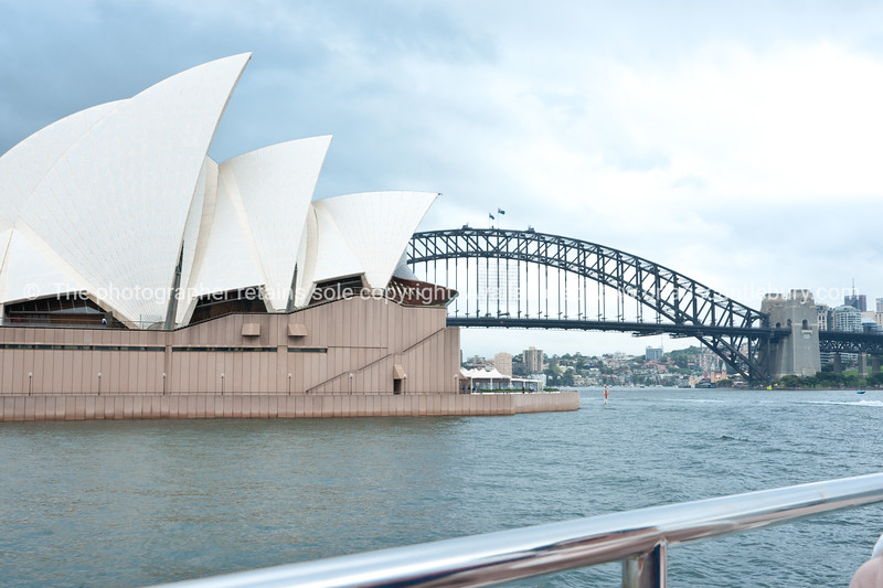 Sydney Opera House and Harbour Bridge.