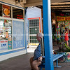 Nimbin shops, Cullen Street.<br /> Model released; no, for editorial & personal use.