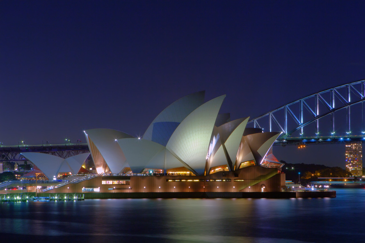 Sydney Opera House from near Mrs. Macquarie's Chair | HDR Treatment