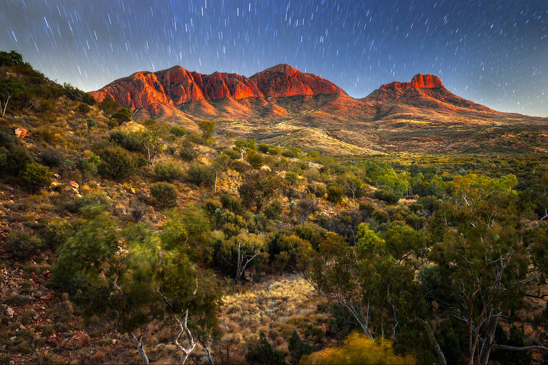 """© Douglas Remington - Ethereal Light Photography, LLC. All Rights Reserved. Do not copy or download.<br /> <br /> First light and starry morning, Mt. Sonder, Australia.<br /> <br /> For more on how I made this image please visit: <a href=""""http://www.flickr.com/photos/ethereallight/7884058036/in/photostream"""">http://www.flickr.com/photos/ethereallight/7884058036/in/photostream</a>"""