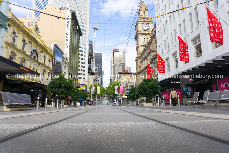 Melbourne Buildings and streets , Buourke Street Mall.