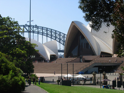 Opera House and Distant Bridge - Australia