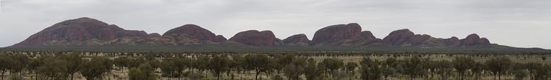 Kata Tjuta mountains panorama in Uluru national park, central Australia