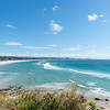 Coolangatta lookout view along white beach to Surfer's Paradise in distance