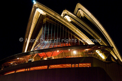 Sydney Opera House roof at night