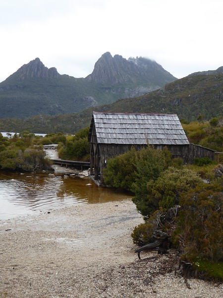 """Famous"" Boat Shed on Dove Lake"