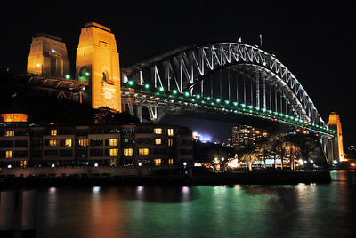 The Harbour Bridge, Sydney.