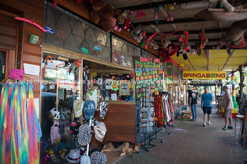 Nimbin, street scene, hippy style shops.
