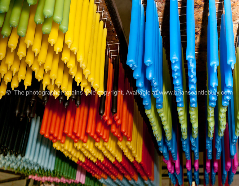 The colours, Nimbin Candles, candle being manufactured.<br /> Nimbin Candle Factory is located in the historic Nimbin Butter Factory