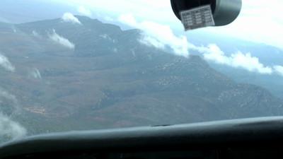 Wilpena Pound flight - interior