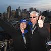 Craig and Jeane on the bridge at twilight