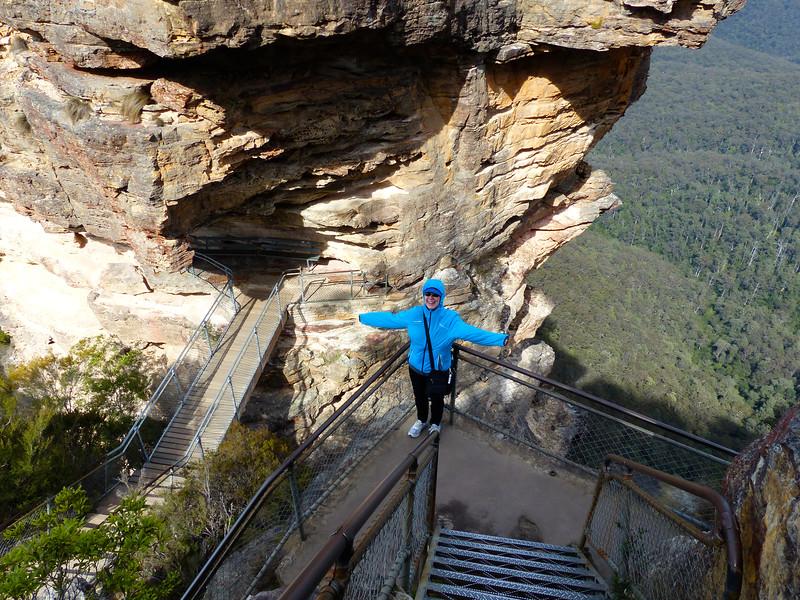 Jeane on the Giant Stairs - Katoomba, Australia