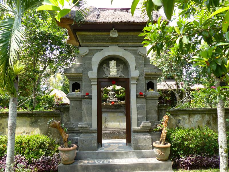 Entrance to our hotel compound, Alam Shanti, Ubud, Bali