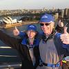 Craig and Jeane at the top of Sydney Harbor Bridge